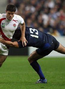 Dan Hipkiss against France at RWC
