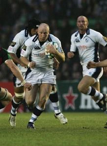 Tom Shanklin on the charge for Blues in HC