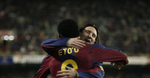 Eto'o: plays, but Messi is out