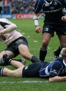 Luke Fitzgerald try Leinster v Toulouse 2008