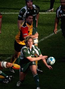 Peter Richards of London Irish in prime Heineken Cup form