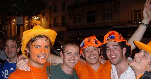 Holland fans: Partying after win over France