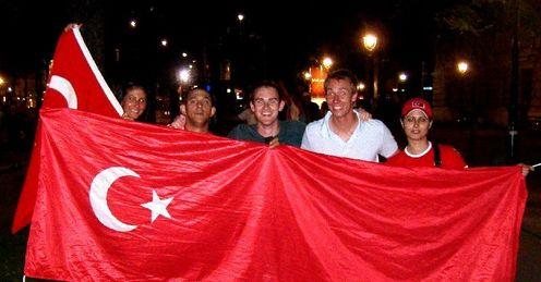 Turkey fans: Ecstatic in Vienna