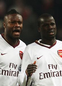 William Gallas Emmanuel Eboue Arsenal