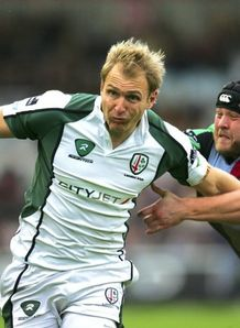 Peter Hewat in EDF action for Exiles