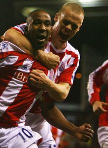 Ricardo Fuller celebrates for Stoke