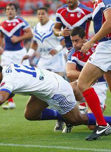 France suffer Samoa mauling