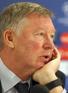 Alex Ferguson Manchester United Champions League Press Conference