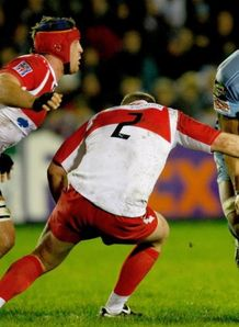 Maama Molitka against Biarritz in the HEC