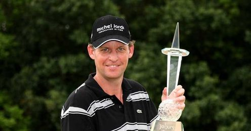 Anders Hansen shown here with the Joburg trophy.