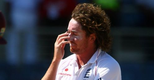 Blank look: Ryan Sidebottom tries to understand how he finished wicketless in the first Test