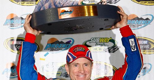 Mark Martin clinched his first win in over three years in Phoenix last month