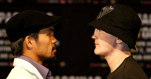 Head-to-head: Ricky reckons he beats Manny