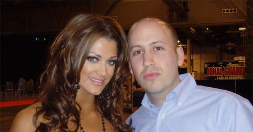 Adam with WWE diva Eve