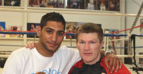 Amir Khan: drops in on his old mate Ricky