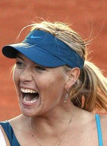 Sharapova battles on
