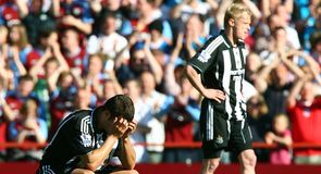 Newcastle drop out of the Premier League.