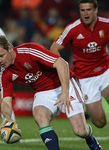 Allsport Brian ODriscoll Try Lions v Golden Lions