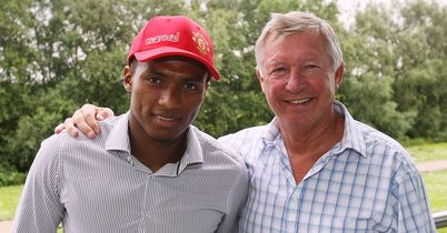 Fergie alongside new signing Valencia