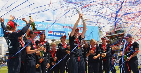 Party time: England celebrate their World Twenty20 win