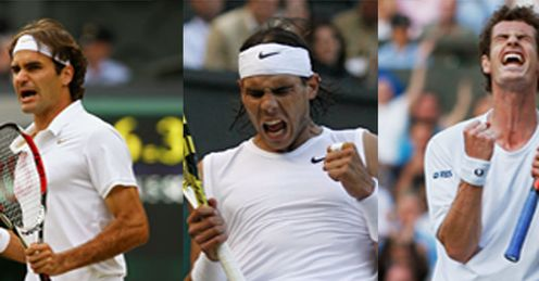Federer, Nadal & Murray: the main contenders