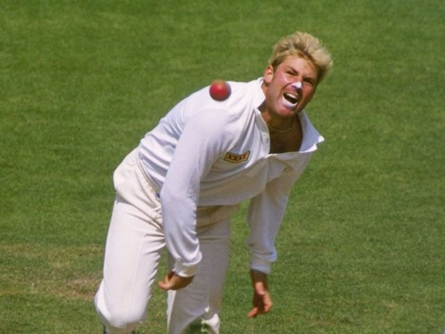 Shane Warne in full flow in the 1993 Ashes