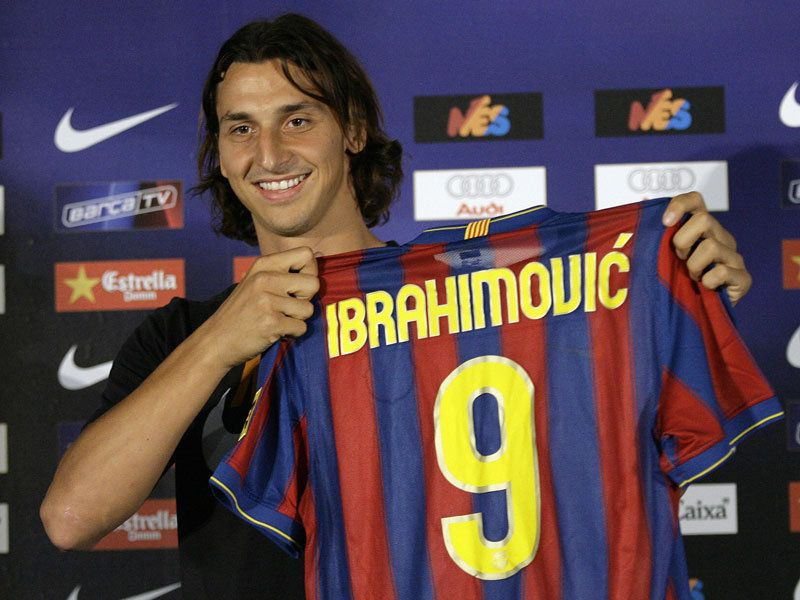 ibrahimovic at the camp nou: i did not see that one coming