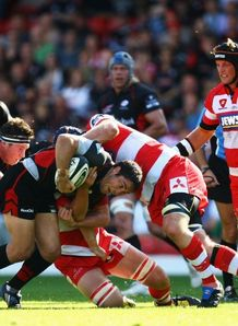 Brad Barritt met by Peter Buxton