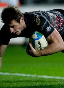 Tommy Bowe try Ospreys