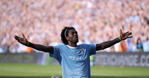 Adebayor: Can you take garden furniture into the football?