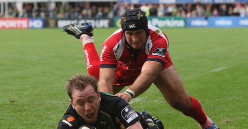 Northampton v Worcester Paul Diggin try