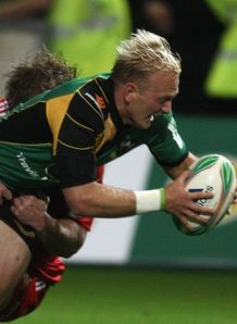 Shane Geraghty scores Saints Munster HEC