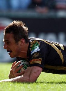 Tommy Bowe try Ospreys Leicester
