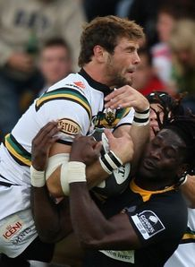Wasps v Saints tussle