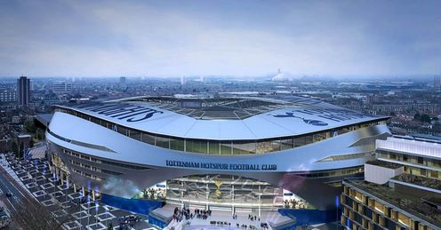 New Tottenham Spurs Stadium External View Winter