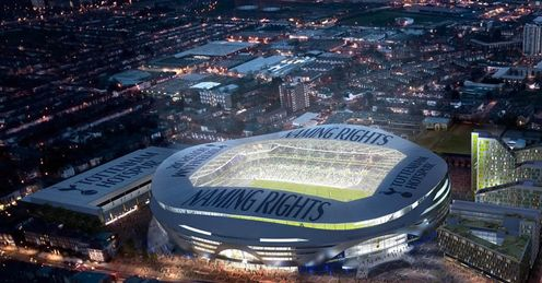 New Tottenham Spurs Stadium External Above View