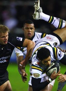 Joe Ansbro getting upended against Newcastle