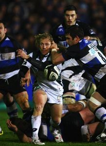 Peter Richards kick against Bath