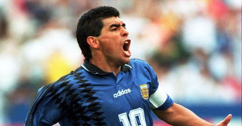 Maradona Argentina Greece World Cup USA 1994