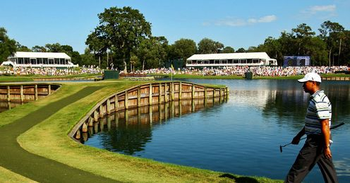 Lying in wait - the beautiful but dangerous 17th at The Stadium Course at Sawgrass