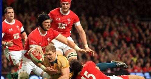 Wales v Australia David Pocock try