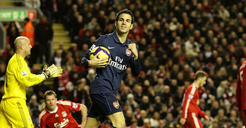 Cesc Fabregas Liverpool Arsenal Premier League