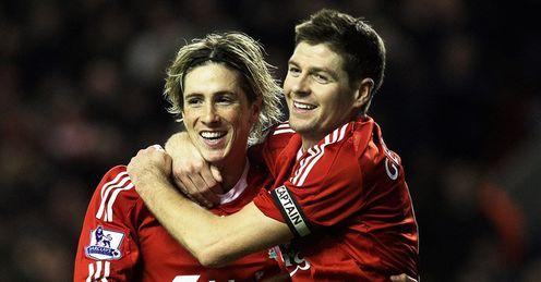 steven gerrard liverpool. Fernando Torres Steven Gerrard