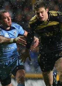Dan Biggar Ospreys playing against Cardiff Blues January 2010