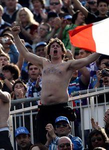 Italy Azzurri fans celebrate rome 2010