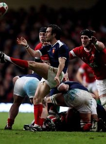 Morgan Parra box kick Wales France
