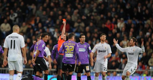 Real Madrid feel they have been harshly treated by referees this season