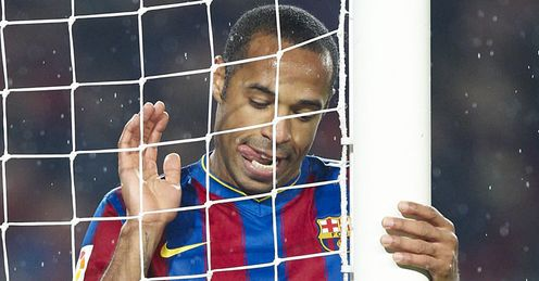 Hanging on: but will this be Henry's last season at Barcelona?