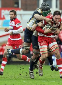 Gareth Delve run against Leeds Carnegie