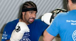 Haye in training